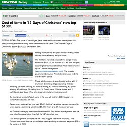 '12 Days of Christmas' items now top $100K