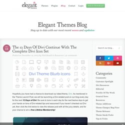 The Complete Divi Icon Set