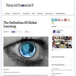The Definition Of Global Learning