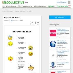 days of the week - English ESL Worksheets