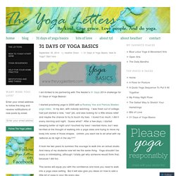 31 Days of Yoga Basics