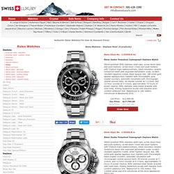 Rolex Daytona Watches From SwissLuxury
