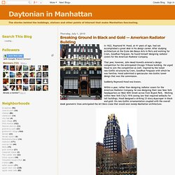 Daytonian in Manhattan: Breaking Ground in Black and Gold