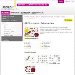 DAZ-Lernpaket: Schulsachen