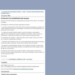W&CIE - le blog : DAzincourt la mondialisation des marques.