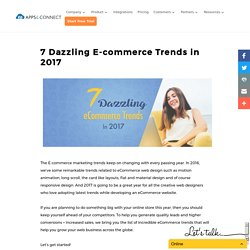 7 Dazzling E-commerce Trends in 2017