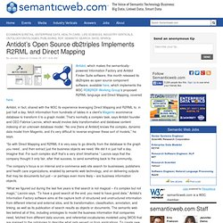 Antidot's Open Source db2triples Implements R2RML and Direct Mapping