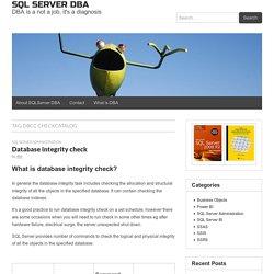 DBCC CHECKCATALOG - SQL SERVER DBA