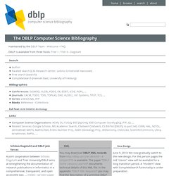 DBLP Bibliography - Home Page