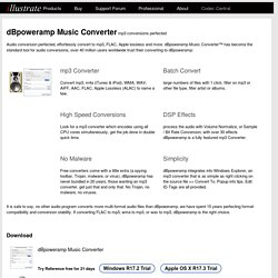 Music Converter - mp3 converter, FLAC, WAV, AAC & Apple Losslesss. Free 21 day trial, download & convert