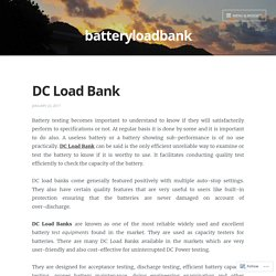 DC Load Bank – batteryloadbank