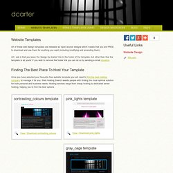 dcarter design - free website templates, free css templates