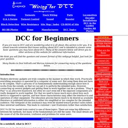 DCC for beginners