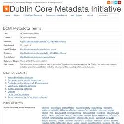 DCMI Metadata Terms