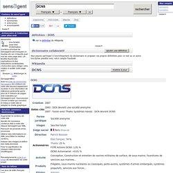 DCNS : définition de DCNS et synonymes de DCNS
