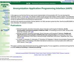 DCS: Anonymization API