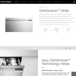 DD90SDFTX2-DishDrawer™ Wide