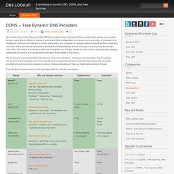 DDNS – Free Dynamic DNS Providers