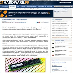 DDR3, influence des canaux & timings