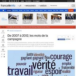 De 2007 à 2012, les mots de la campagne