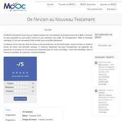 De l'Ancien au Nouveau Testament