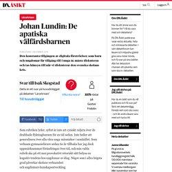 De apatiska välfärdsbarnen - DN.Åsikt