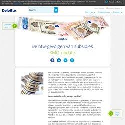 De btw-gevolgen van subsidies