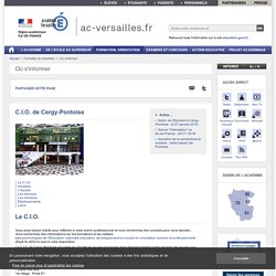 C.I.O. de Cergy-Pontoise - ac-versailles.fr