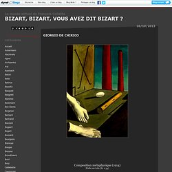 Tableaux de Giorgio De Chirico