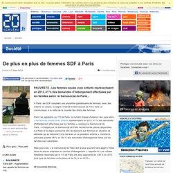 De plus en plus de femmes SDF à Paris