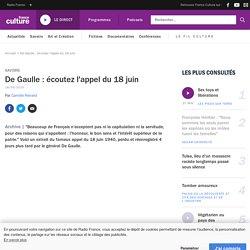 De Gaulle : écoutez l'appel du 18 juin