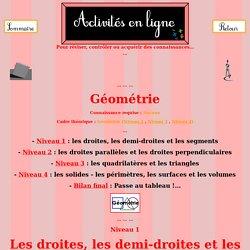 De la géométrie...