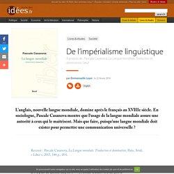 De l'impérialisme linguistique