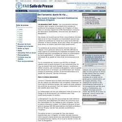FAO 19/12/07 De l'arsenic dans le riz...