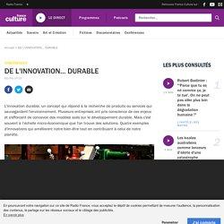DE L'INNOVATION... DURABLE