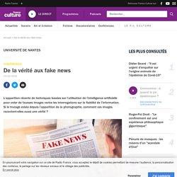 De la vérité aux fake news : conférence