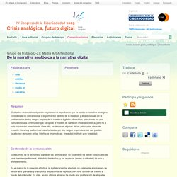 De la narrativa analógica a la narrativa digital