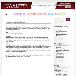 De opbouw van een betoog - TAALwinkel