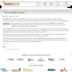 De OpenERP à Odoo !