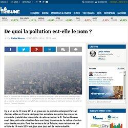 De quoi la pollution est-elle le nom ?