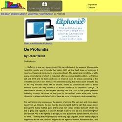 De Profundis by Oscar Wilde 0