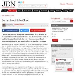 De la sécurité du Cloud - JDN