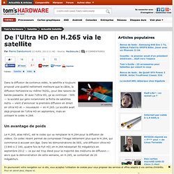De l'Ultra HD en H.265 via le satellite