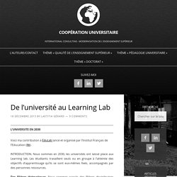 De l'université au Learning Lab