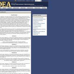 DEA / Drug Scheduling