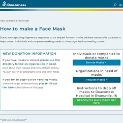 - How to make a Face Mask