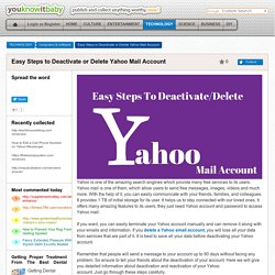 Easy Steps to Deactivate or Delete Yahoo Mail Account