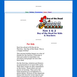 Day of the Dead Lesson Plans & Games for Kids