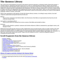 Dead Sea Scrolls - Qumran Library