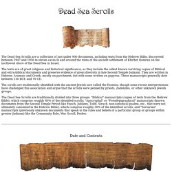 Dead Sea Scrolls, Essenes